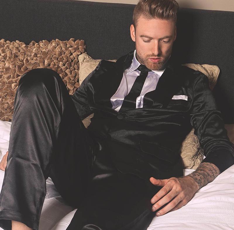 suitjama pajama suit black